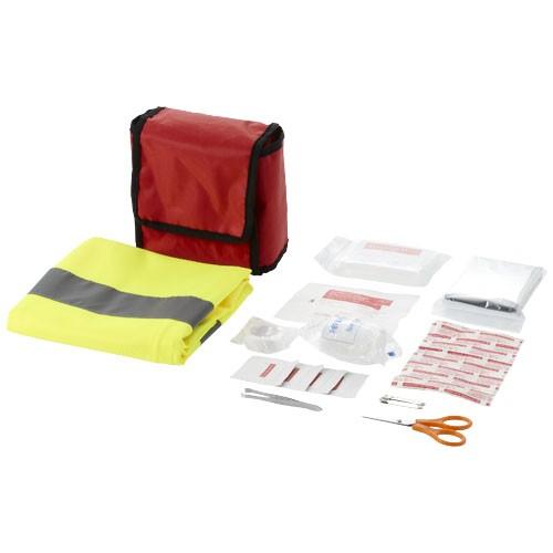 18 teiliges Erste Hilfe Set mit professioneller Warnweste